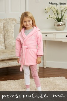 Personalised Baby/Toddler Fleece Dressing Gown by Forever Sewing