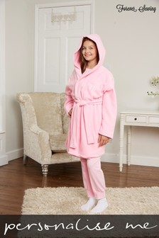 Personalised Junior Fleece Dressing Gown by Forever Sewing