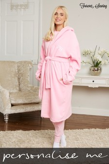 Personalised Adult Fleece Dressing Gown by Forever Sewing