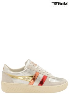 Gola Silver Ladies' Grandslam Shimmer Flare Lace-Up Trainers