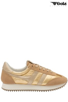 Gola Gold Boston '78 Metallic Lace-Up Trainers