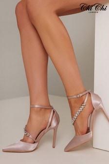 Chi Chi London Cher Diamonte Strap Heels