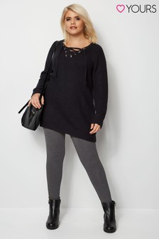 Yours Grey Curve Soft Touch Leggings