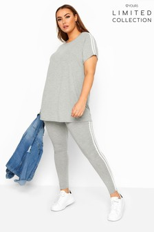 Yours Grey Collection Curve Tape Leggings
