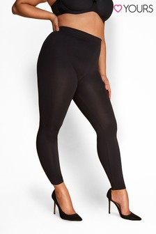 Yours Black Curve Slimming Control Leggings