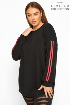 Yours Limited Collection Curve Side Stripe Sweatshirt