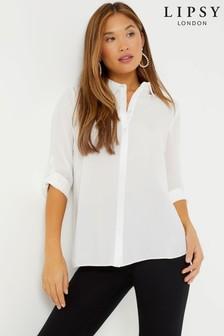 White  Lipsy Button Up Shirt
