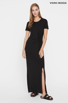 Vero Moda black Twist Front Jersey Maxi Dress