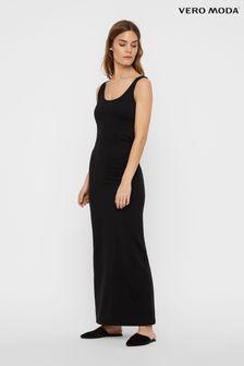 Vero Moda Black Sleeveless Jersey Maxi Dress