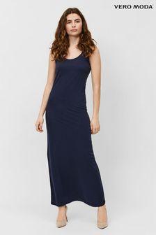 Vero Moda Navy Blazer Sleeveless Jersey Maxi Dress