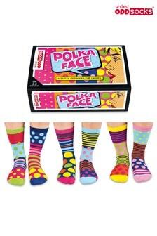Sock Academy Polka Face Odd Socks - Pack Of 6