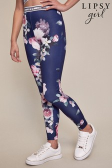 Lipsy Navy Floral Active Leggings