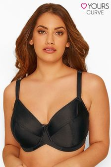 Yours Black Curve Classic Smooth Non-Padded Underwired Bra F+