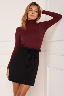 Black  Lipsy Paperbag Skirt