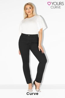 """Yours Black Curve 32"""" Straight Leg Ruby Jeans"""