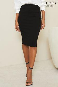 Lipsy Black Midi Skirt