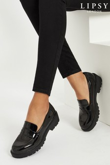 Lipsy Black Chunky Loafer