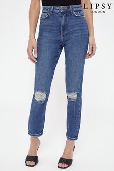 Lipsy Ripped Mom Jeans