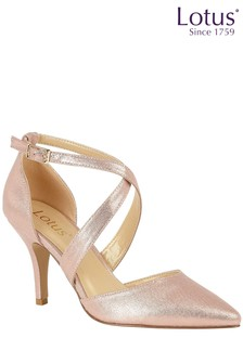 Lotus Pink Heeled Pointed Toe Occasion Shoe