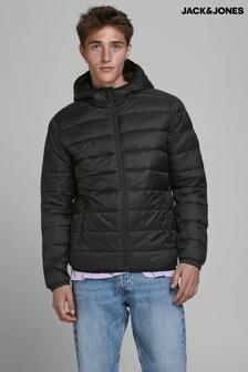 Jack & Jones black Hooded Padded Jacket