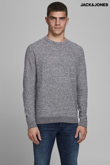 Jack & Jones Grey Crew Neck Jumper