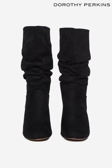 Dorothy Perkins Black Kinder 3/4 Block Heel Boot