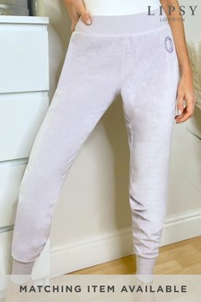 Lipsy Purple Regular Velour Jogger