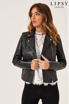 032cc882dcef Black Lipsy Leather Biker Jacket ...