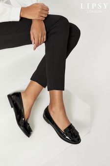 Lipsy Black Tassel Loafers