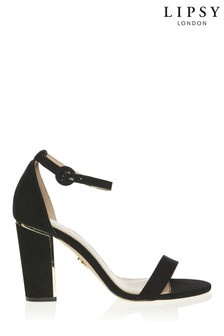Lipsy Black Block Heel Sandals