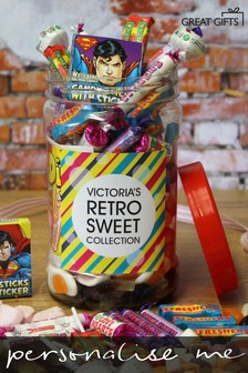 Personalised Retro Sweet Jar By Great Gifts