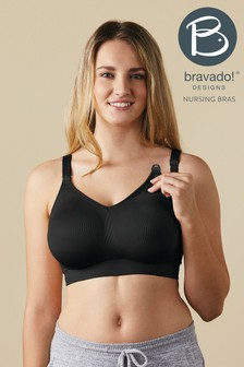 Bravado Black Body Silk Seamless Nursing Bra