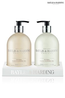 Baylis & Harding Jojoba, Silk And Almond Oil Hand Wash And Lotion In An Acrylic Rack