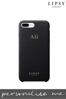 Personalised Lipsy Black Faux Leather Phone Case By Koko Blossom