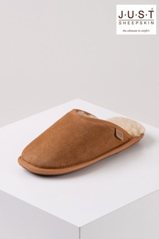 Just Sheepskin Brown Ladies Shaftsbury Sheepskin Slippers