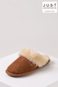 Just Sheepskin Tan Ladies Duchess Sheepskin Slippers