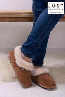 Just Sheepskin Brown Ladies Classic Sheepskin Slippers