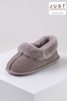 Just Sheepskin Purple Ladies Classic Sheepskin Slippers