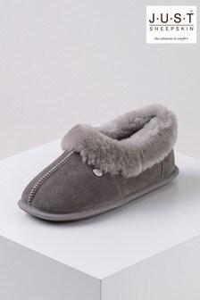 Just Sheepskin Grey Ladies Classic Sheepskin Slippers