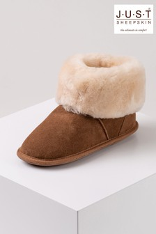 Just Sheepskin Caramel Ladies Albery Sheepskin Slippers