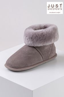 Just Sheepskin Purple Ladies Albery Sheepskin Slippers