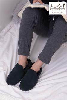 Just Sheepskin Blue Garrick Sheepskin Slipper