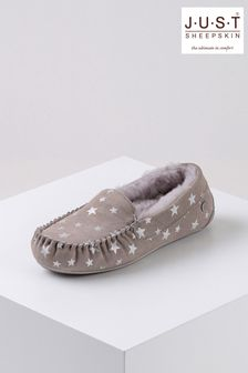 Just Sheepskin Star Print Ladies Regent Sheepskin Slippers