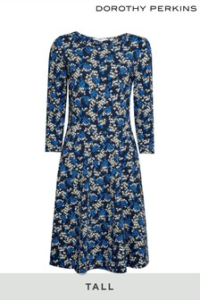 Dorothy Perkins Navy Dorothy Perkinstall Ditsy Print Fit & Flare Dress