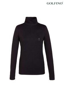 Golfino Black Matilde Ladies Rollneck