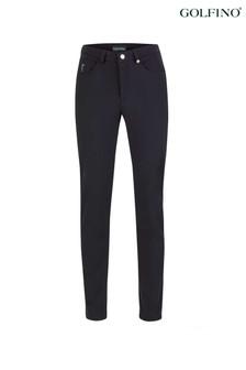 Golfino Black ST Ladies Trousers