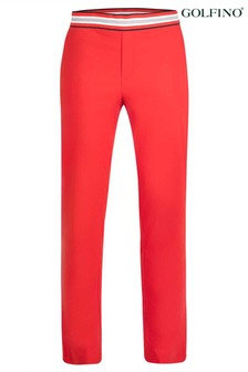 Golfino Red Arctic Brushed Techno Stretch Ladies Trousers