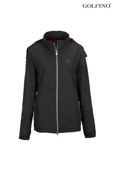 Golfino Black Microfibre Ladies Jacket