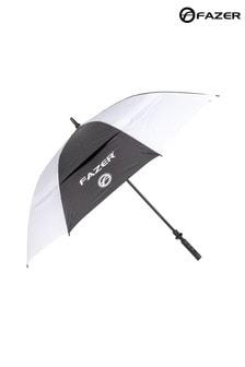 Fazer White and Black Dual Canopy Golf Umbrella