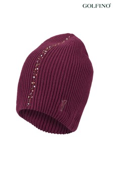 Golfino Red Cashmere Knitted Hat